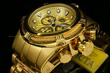 Invicta 52mm BOLT ZEUS Swiss Movt Ronda Chrono 18K Gold PlatedS.S Bracelet Watch