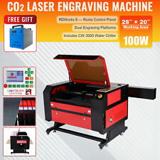 Omtech 100w 28x20 Co2 Laser Engraver Engraving Machine Amp Cw 3000 Water Chiller