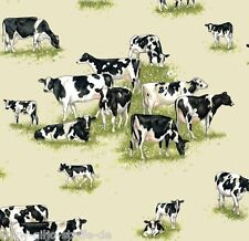 Patchworkstoff Farm Animals Kühe Baumwollstoffe Kuh Tiere Patchwork Stoffe Cows