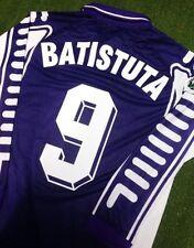 Fiorentina Maglia Casa Toyota 1999 2000 Serie A Jersey Home BATISTUTA 9 LS M