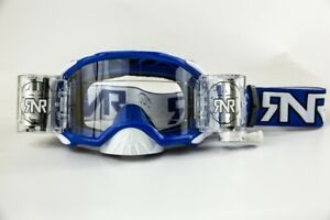 RIP N ROLL RNR PLATINUM WVS 48MM ROLL OFF GOGGLES BLUE MOTOCROSS ENDURO CHEAP MX