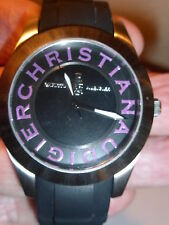 CHRISTIAN AUDIGIER DESIGNER WATCH*COOL STAINLESS+WATER RESISTANT 165' *NEW w/TAG