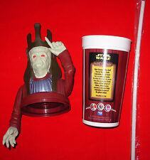 Star Wars - Nute Gunray Topper, Cup & Straw KFC 1999 - RARE - Phantom Menace