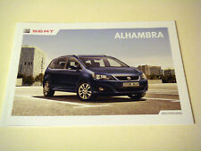 Seat . Alhambra . Seat Alhambra . April 2013 Sales Brochure
