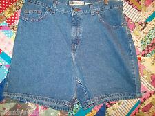 Faded Glory Denim Shorts Size 14 Average Summer Casual Blues 100% Cotton