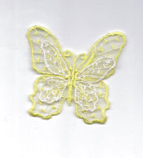 Yellow Embroidered Double Layer Butterfly Applique 2599-B