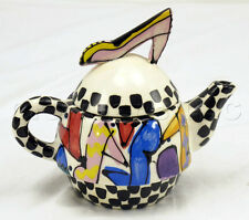 Robin Sterling Tea Pot Hand Crafted Pottery Ceramic Pink High Heel Shoe Design