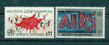 """Nations Unies Vienna 1990 - Michel n. 100/01 - """"Lutte mondiale contre le SIDA"""""""