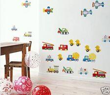 Cars Truck Ducks Airplane Wall Decal Room Sticker Bedroom Nursery home Decor