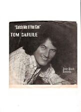 Tom Carlile Catch Me If You Can Autographed Door Knob 45 RPM Record & Pic Sleeve