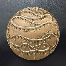 Cinema / Monnaie de Paris / 69 mm / Bronze Medal / signed Berecel / 1977 / M74