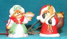 2 Vintage New Old Stock Lucy & Me, Santa & Mrs. Claus with a Pie, Bear Figurine