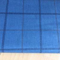 Blue Check 100% Cotton Fabric. Price per 1/2 meter