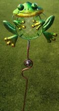 Garden Lawn Yard Decoration animal Frog glass & metal pick stake NEW 30""