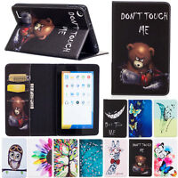 Flip Leather Card Pocket Rugged Case Cover For Amazon Kindle Fire HD 8 6th Gen