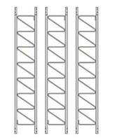 ((LOT OF 3)) ROHN 25G 10' Tower Sections - Standard 25G Tower Section - Rohn 25