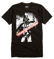 Star Wars Darth Vader Black/White Red Saber Black Men's T-Shirt New