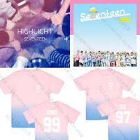 KPOP Seventeen 17 Gradient T-shirt Unisex MINGYU Tshirt DINO Short Sleeve Tee
