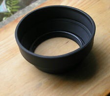 genuine Mamiya RB67 77mm screw in  soft rubber lens hood 127-250
