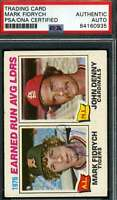 Mark Fidrych Psa Dna Coa Autograph 1977 Topps Ldr Rookie Authentic Hand Signed