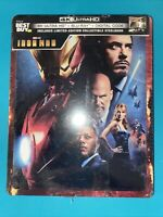Iron Man Limited Edition Steelbook 4K Ultra HD + Blu-ray + Digital HD new sealed