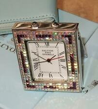 Halcyon Days Jeweled Pocket Travel Alarm Clock - Art Deco - Nib - Rare