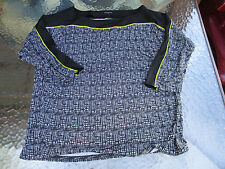 Ann Taylor Crosshatch Long Sleeve Ladies Batwing Blouse XL Rayon Polyester Top