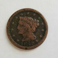 1847 Braided Hair Large One Cent **** Could it be a Large 7 over Small 7?****