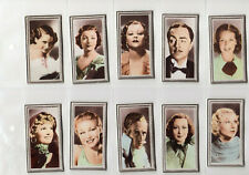 GODFREY PHILLIPS Stars Of The Screen set of 48 very good cond cat £48 in sleeves