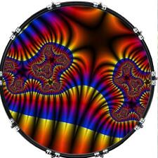 "Custom 22"" Kick Bass Drum Head Graphical Image Front Skin Fractal 26"