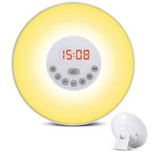 Wake Up Light Alarm Clock Sunrise Simulation Dusk Night Light with FM Radio