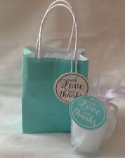 Small Candle Gift With Love And Thanks In Tiffany Blue Gift Bag