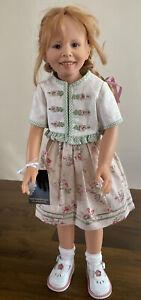 "RARE Large Heidi Plusczok Puppen Katia 12/120 Doll 23"" With Tag"