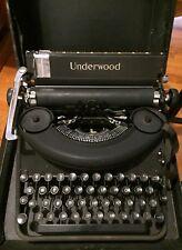 Vintage 1940s Underwood Manual Typewriter Noiseless 77 w/ Case 1514734