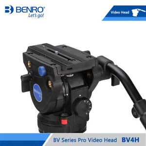 BENRO BV4H Video Head Hydraulic Fluid QR13 Quick Release Plate Aluminum