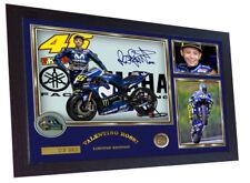 Valentino Rossi autograph print signed photo FRAMED VALENTINO ROSSi