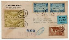 1936 USA TO ARGENTINA REG AIRMAIL COVER, VERY GOOD FRANKING, HIGH VALUE