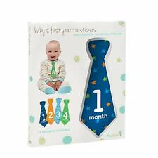 New Tiny Ideas Baby's First Year Tie Stickers Baby Shower Gift Nwt +