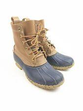 """Women's Ll Bean 8"""" Bean Boots Leather Upper Blue Sz 8"""