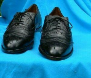 Bally Prestige 712 Men's Wingtip Lenox Oxfords Dress Black Leather Shoes,  12 B