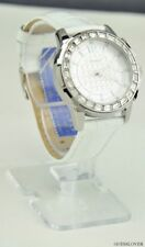 New Authentic Guess Ladies Watch White Leather  Stainless Steel Women