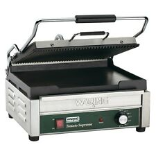 Waring WDG250 Commercial Panini Grill Ribbed Top and Flat Bottom