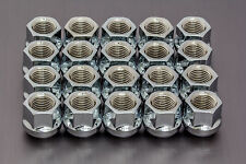 20x CHROME WHEEL NUTS M14x1.5 mm di raggio SEDILE VW, AUDI, SEAT, SKODA
