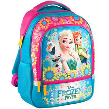 Disney Frozen Fever Backpack School Bag Gym Travel Holiday Girls Anna Elsa