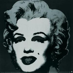 ANDY WARHOL Marilyn Black #24 38 x 38 Poster 1989 Pop Art Black & White Woman, F