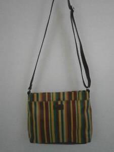 Relic by Fossil Trisha Organizer Crossbody Messenger Bag Multi Color Stripes
