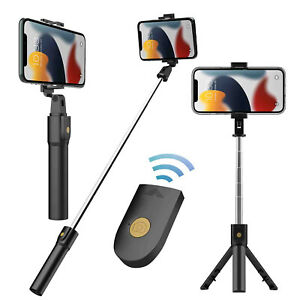 For iPhone 13 12 Pro Max Selfie Stick Extendable Wireless Remote Tripod 2 IN 1