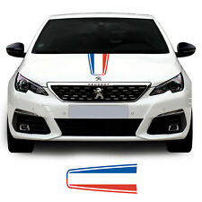 Peugeot 308 French Flag Bonnet Hood Racing Stripe Vinyl Decal Graphic Sticker
