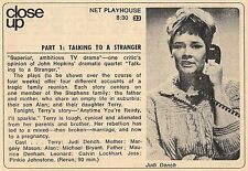 """1970 TV AD~JUDY DENCH in NET PLAYHOUSE """"TALKING TO A STRANGER"""" PART I"""