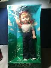 "Vintage EG 1960's Life Size Walking Karen Doll 19"" An EEGEE Doll RARE Goldberger"